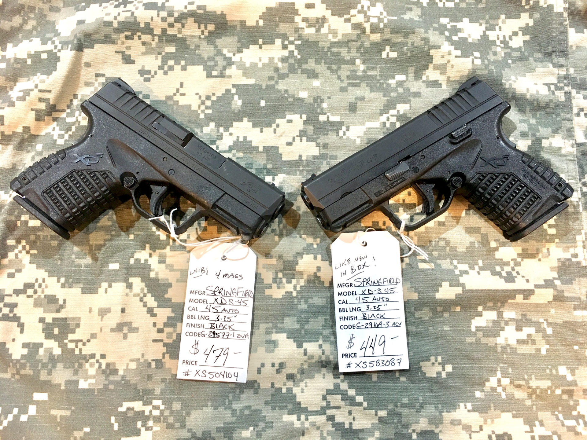 Springfield XDS's