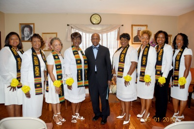 2018 - 2020  NCNW Officers Installation Pictured with Rev. Brunson