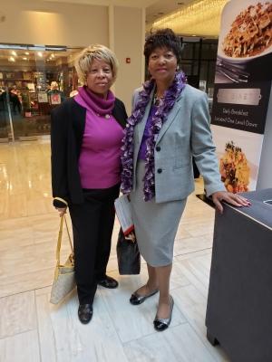 Joann and Dorothy Arriving at the Hyatt
