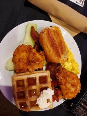Chicken and Waffles Harambee Buffet