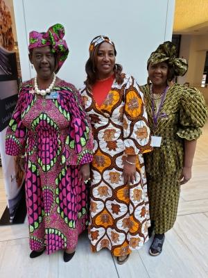Thelma Bruce, Sandra Gipson and Clarice Pennington after Harambee