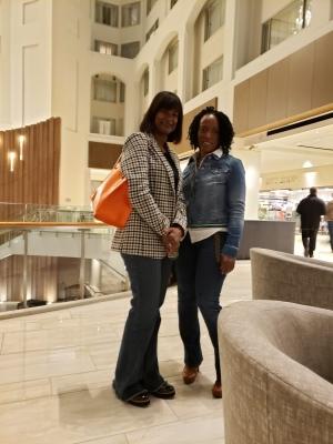Angela and Timeka in the Hyatt Lobby