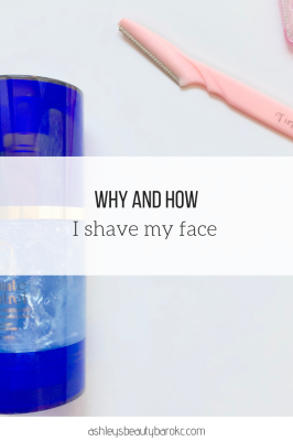 I shave my face