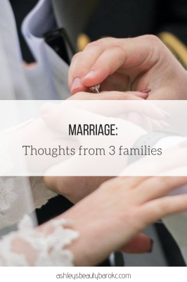 Marriage: Thoughts from 3 families