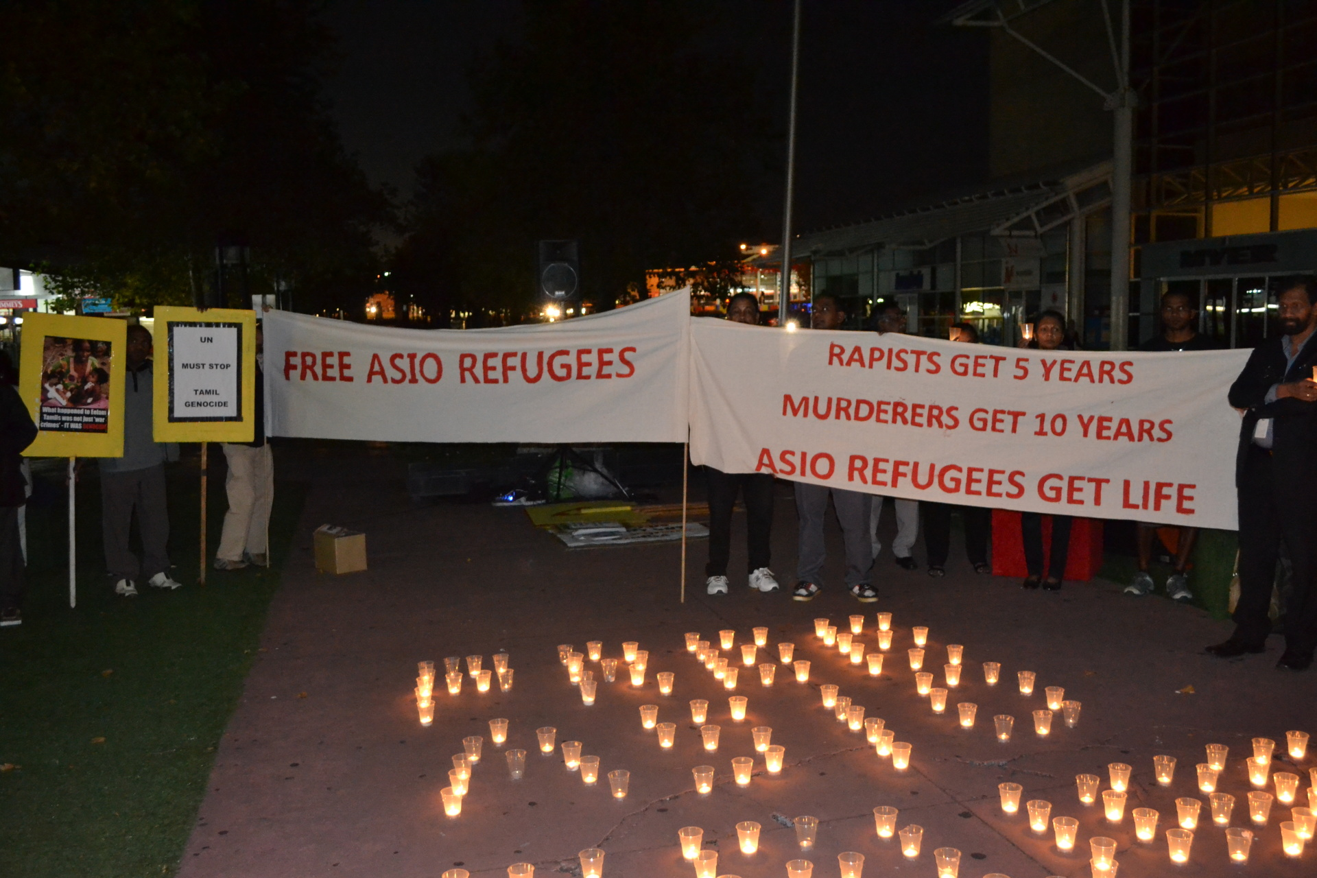 Protest in support of refugees