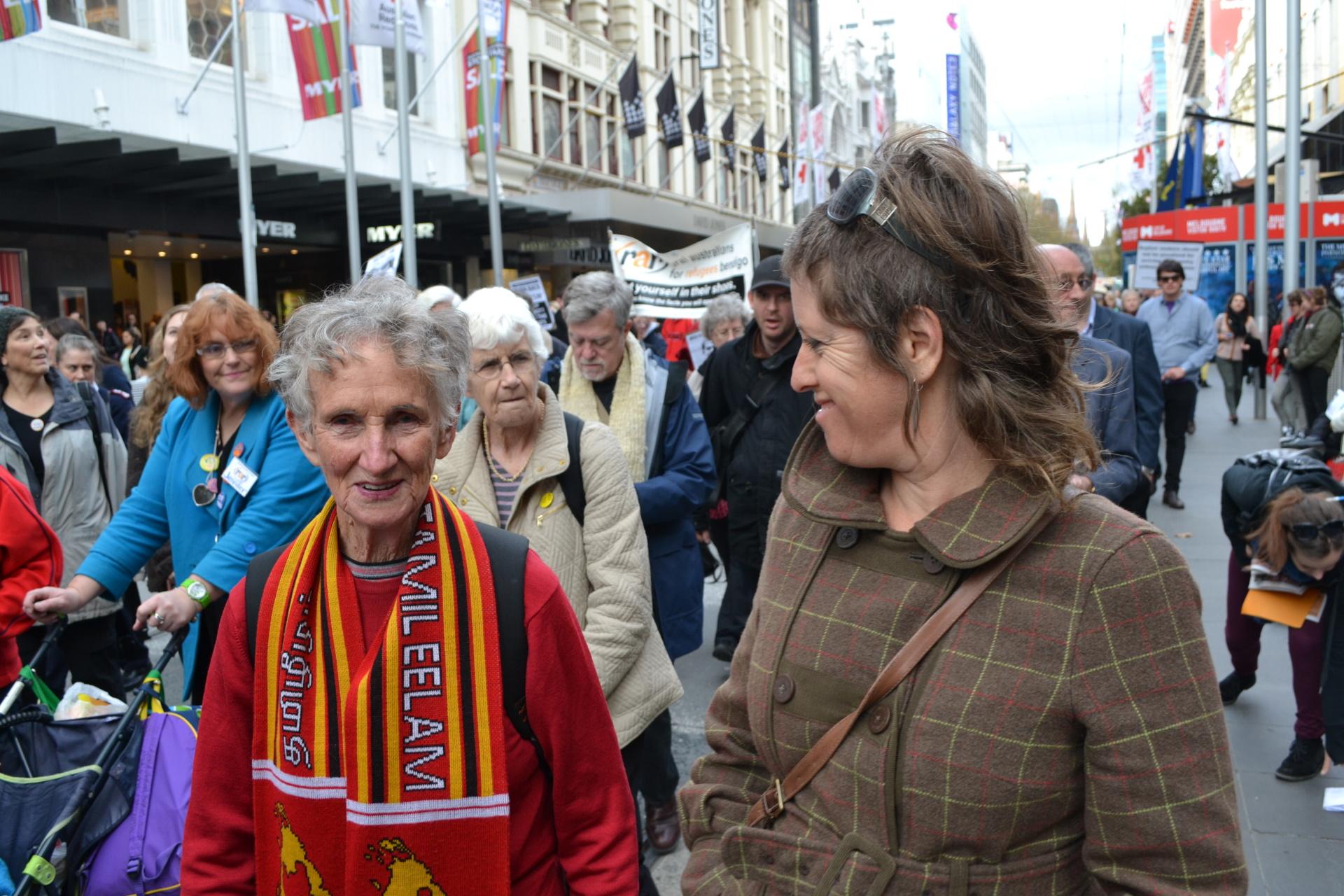 Ballarat activist Kath Morton in support of Tamils