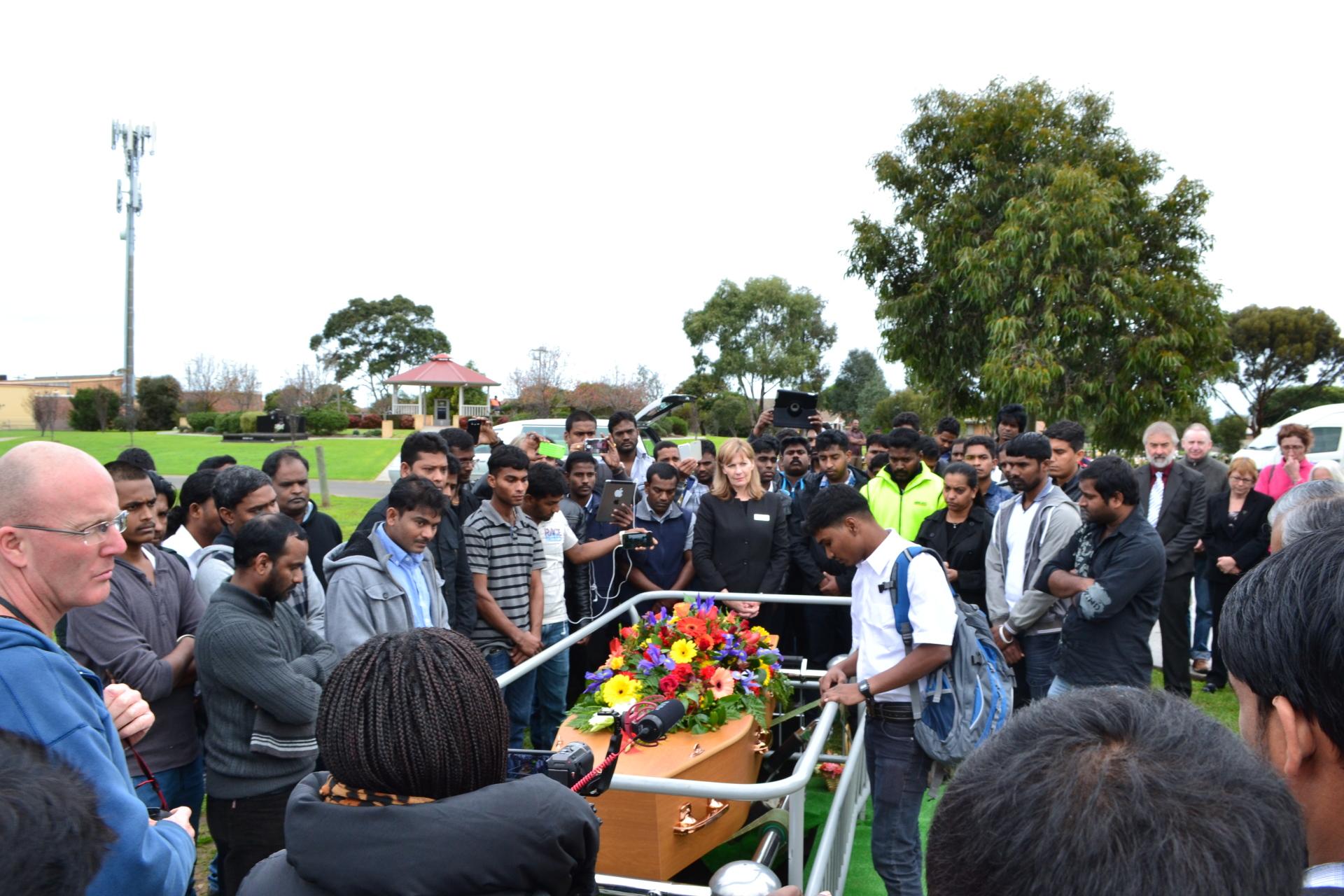 Funeral of Leo Seemanpillai