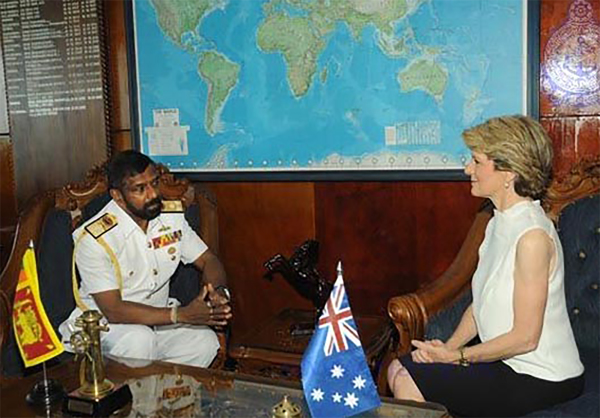 JULIE BISHOP SHOULD NOT BE GIVING COVER TO SRI LANKAN GOVERNMENT