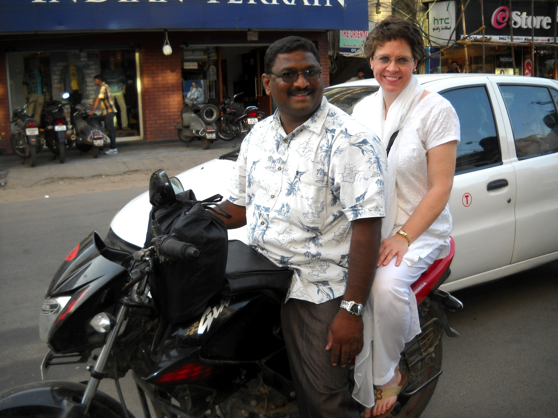 By motorcycle, Hyderabad, India
