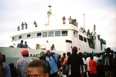 By ship, Solomon Islands