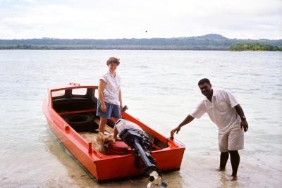 By small boat, Vanuatu
