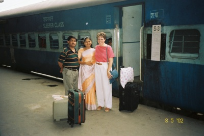 By train, India