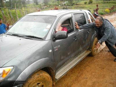 Through the mud! Mt. Hagen, Papua New Guinea