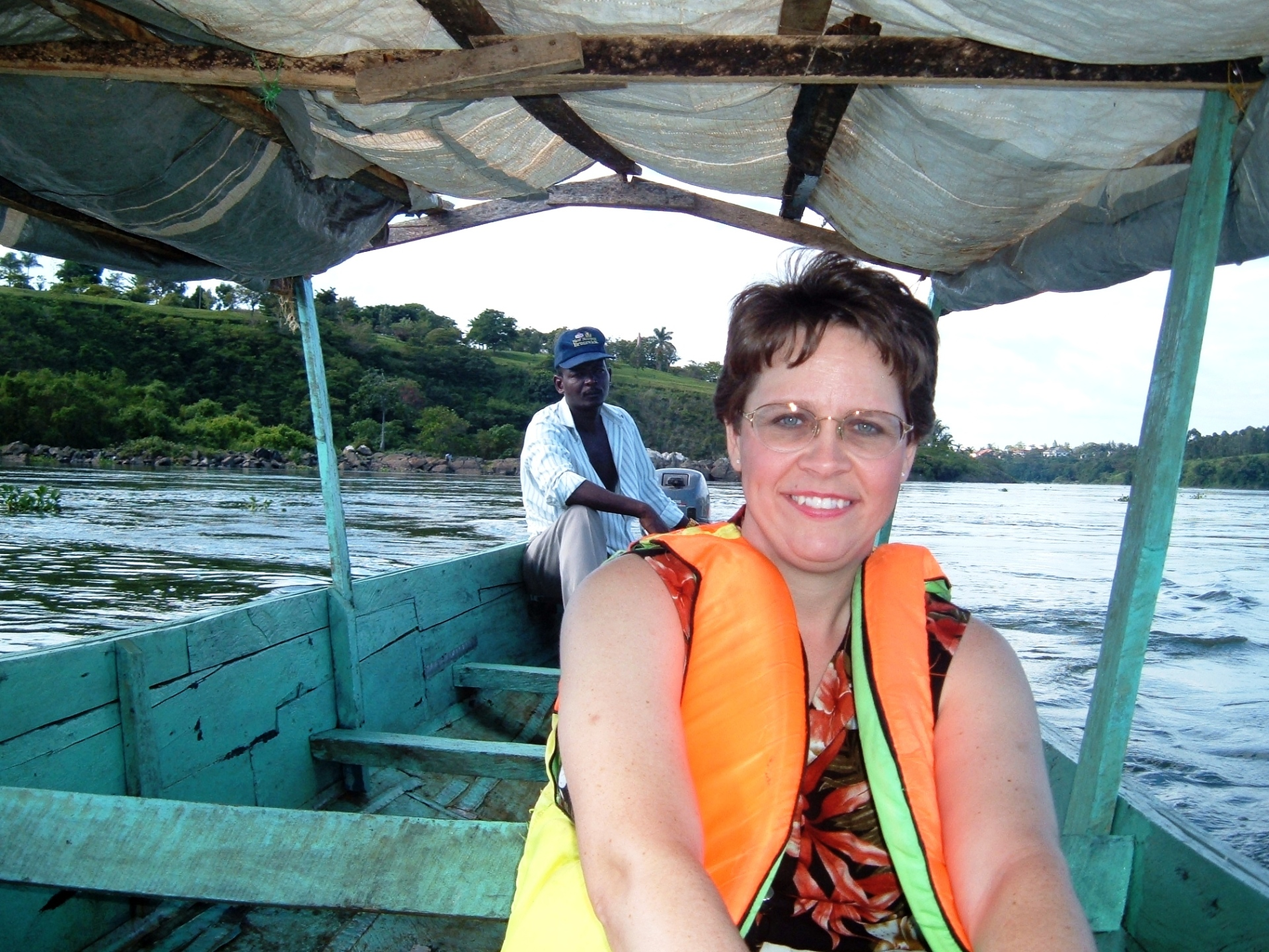 At the source of the Nile River, Uganda