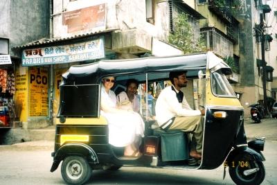 By auto rickshaw, India