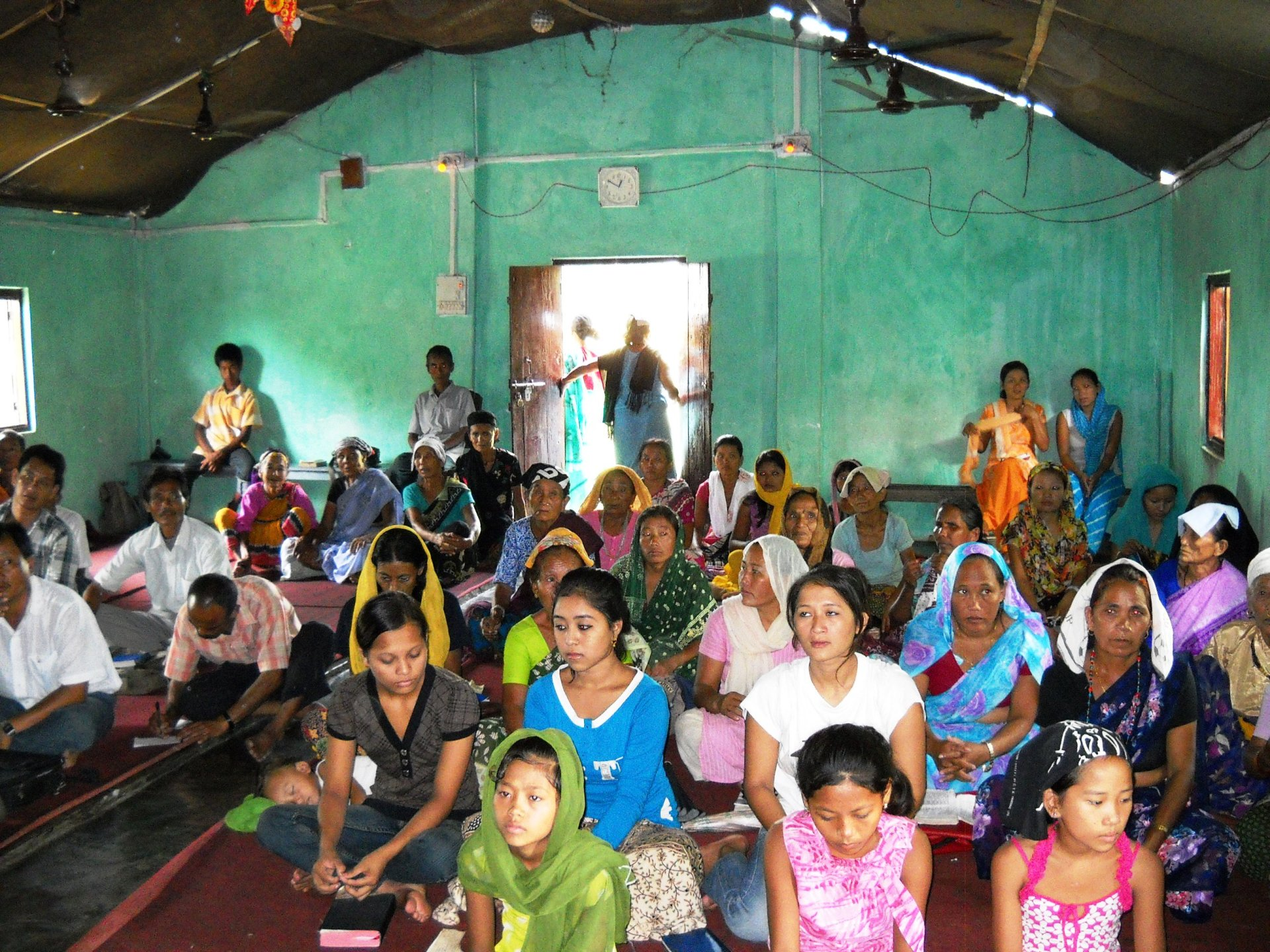 Service in a Nepali refugee camp, eastern Nepal