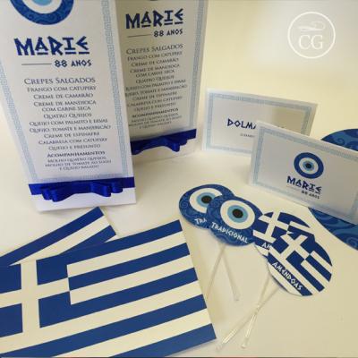 festa grega personalizados
