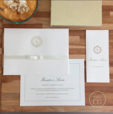 Convite para casamento tradicional
