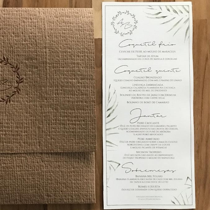 menu papelaria casamento