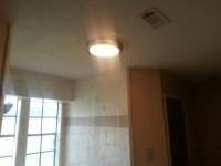 restored bathroom ceiling
