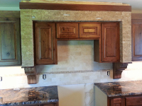 custom kitchen cabinet tile work