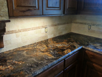 custom countertop and backsplash