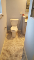 tile floor and commode