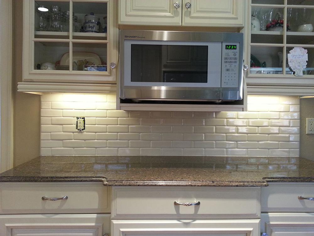 custom kitchen countertop and backsplash