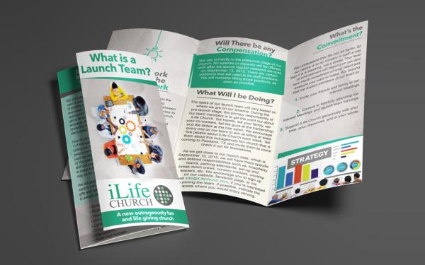 iLife Church Custom Brochure Design