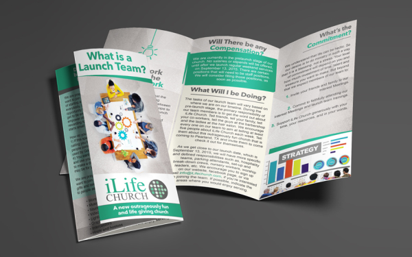 iLife Church Custom Brochure Design