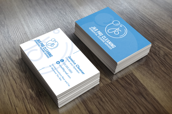 Cleaning Company Logo and Business Card | Graphic Design in Baltimore