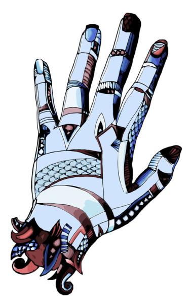 Ty's hand