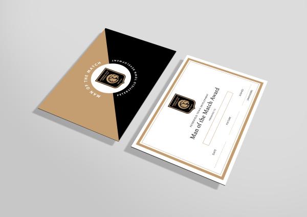 Man of The Match Award Certificates