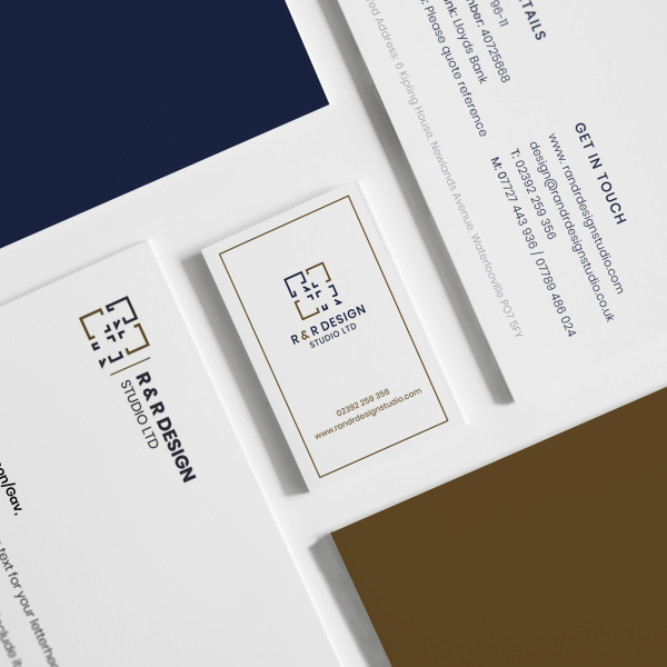 Rebrand of printed business stationery.