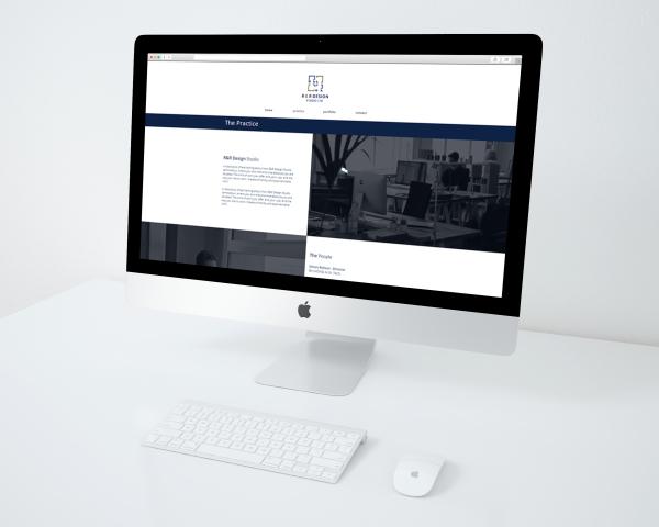 Website mockup of the new R&R Design Studio site.