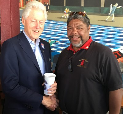 Coach and President Clinton