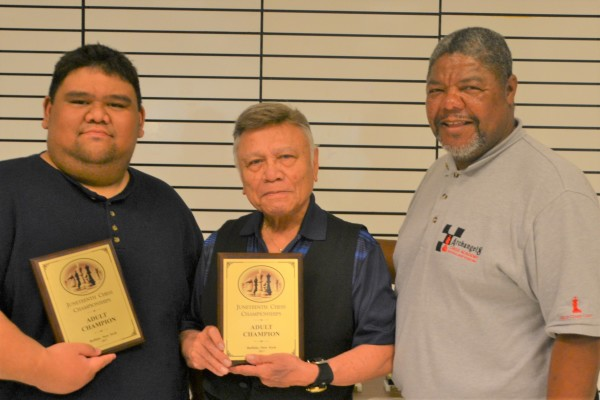 Juneteenth Co-champions Pierre Martinez and Roberto Frilles with Coach