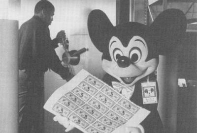 Image circa 1987 - First Day release with Mickey Mouse