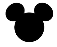 Mickey Head Logo Black and White