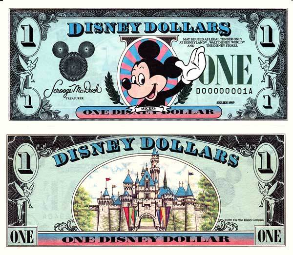 $1 Disney Dollar Series 1989