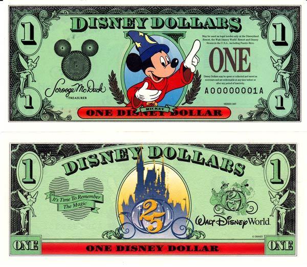 1997 $1 Sorcerer Mickey