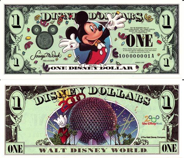 2000 $1 Celebrating Mickey