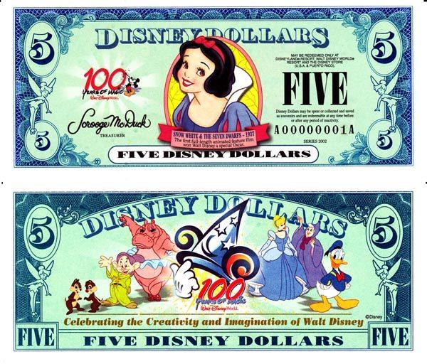 2002 $5 Snow White - 1937