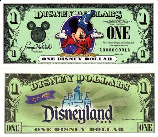 2001 $1 Sorcerer Mickey