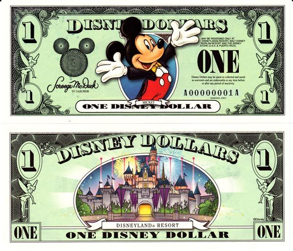 2003 $1 Mickey Mouse