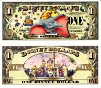 2005 $1 Dumbo Disney Dollar