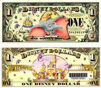 2005 $1 Dumbo Disney Dollar with Barcode