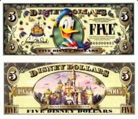 "2005 $5 ""Donald Duck"" Disney Dollar"