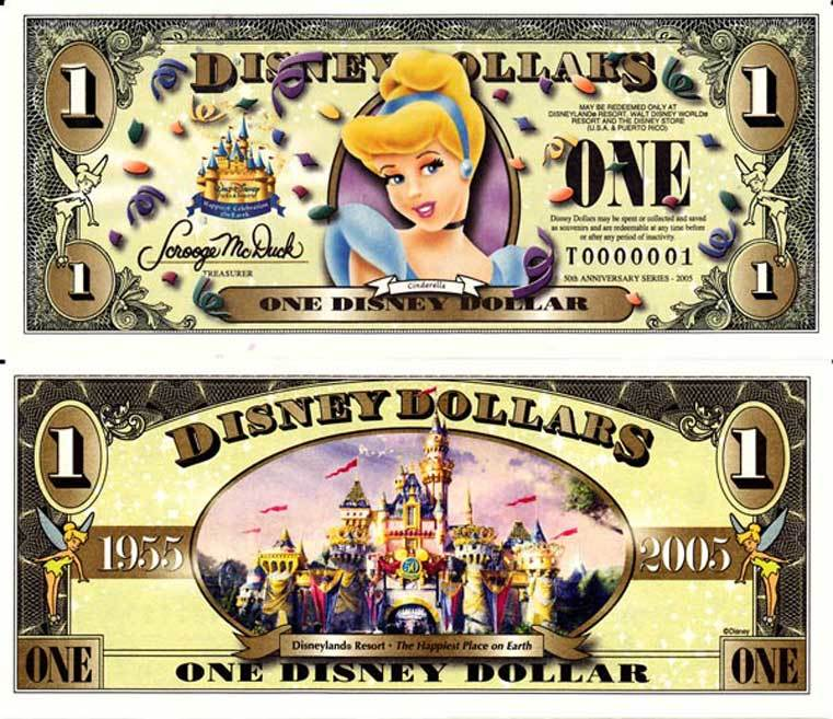 2006 $1 Cinderella Disney Dollar