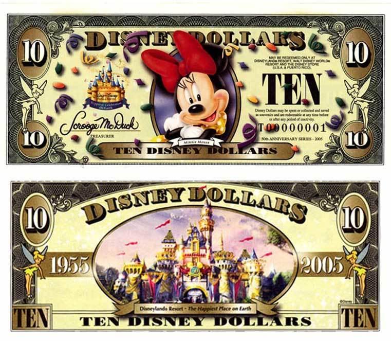 2006 $10 Minnie Mouse Disney Dollar